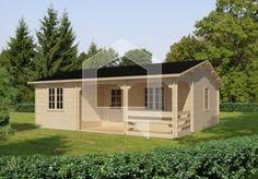 Szczególnie jasny i przytulny dom rekreacyjny. Wygodne rozplanowanie wnętrza i 5 dużych okien sprawiają poczucie większej przestrzeni.
