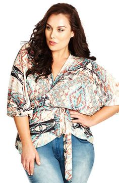City Chic 'Arizona' Faux Wrap Top (Plus Size) available at #Nordstrom