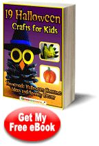 19 Halloween Crafts for Kids: Homemade Halloween Costume Ideas and Spooky Decor Free eBook from @AllFreeKidsCrafts