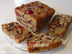 Cake Recipe | Rich Walnut Fruitcake Recipe http://thebakingpan.com/recipes/cakes/rich-walnut-fruitcake/