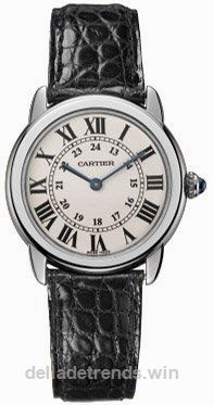Cartier Women's Ronde Solo Black Leather Watch W6700155…  http://www.delladetrends.win/2017/07/25/cartier-womens-ronde-solo-black-leather-watch-w6700155/