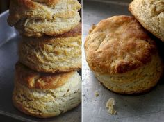 Sourdough and buttermilk biscuits - used Kamut flour instead of all purpose flour...needed more butter