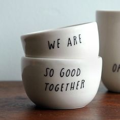 For sharing popcorn after the kids go to bed...yep. :: Good Together Stacking Vessels by Pigeon Toe Ceramics