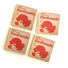 A personal favourite from my Etsy shop https://www.etsy.com/au/listing/493415617/ceramic-tile-coasters-redhead-matches