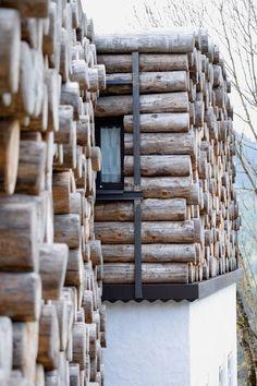 log end walls. beautiful!