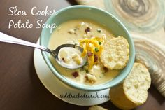 Growing up, I never liked potato soup. It wasn't until I added cheese to it that I realized it was worth my time! You can prep ahead some of the work and make it in your crockpot!