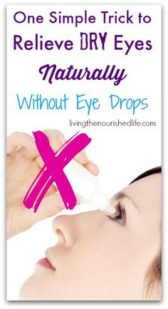 One Simple Trick to Relieve Dry Eyes Naturally Without Eye Drops: Take a drop of lavender oil and rub it along the bridge of your nose. This simple trick works very quickly to relieve dry eyes. You can reapply as often as necessary. Dry Eye Remedies, Natural Home Remedies, Health Remedies, Holistic Remedies, Holistic Healing, Natural Healing, Dry Itchy Eyes, Health Tips, Health And Wellness