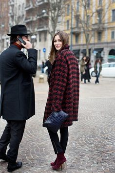 Street Style: Perfect winter coat with the booties to match. www.topshelfclothes.com
