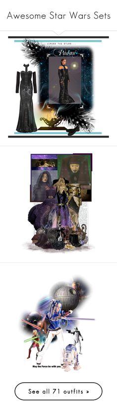 """Awesome Star Wars Sets"" by anahita-unduli-ii ❤ liked on Polyvore featuring Balmain, Donna Karan, Oscar de la Renta, SELECTED, Chantal Thomass, SANDY, Luminara, Stephane Rolland, Lipsy and BURAK UYAN"