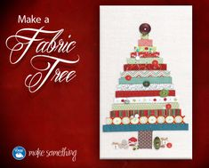 Make a beautiful #fabric tree -- perfect as a gift or for decor you can enjoy every year :) @Dritz Sewing