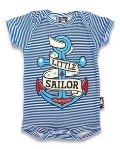 Six Bunnies Little Sailor Baby Romper Nautical Anchor Tattoo Cute Shower Gift  | eBay