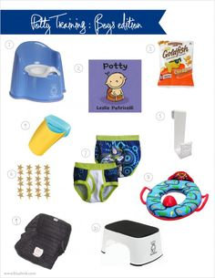Potty Training gear. This potty book is a favorite in our house!