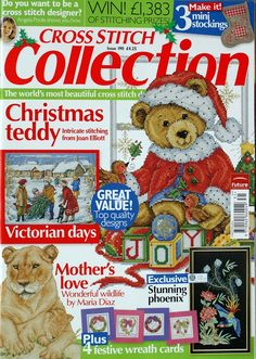Cross Stitch Collection 190 2010 Christmas Teddy, Lion, Orchid, Snow scene, Christmas Cards & Sampler ACCESSO A LIVEINTERNET