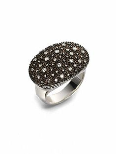 David Yurman Pav? Diamond & Blackened Sterling Silver Starlight Ring