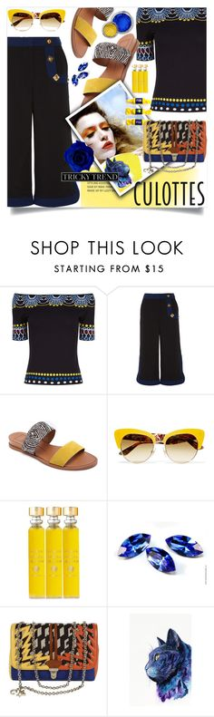 """""""Tricky Trend-Sweet Culottes"""" by wuteringheights ❤ liked on Polyvore featuring Peter Pilotto, Dolce Vita, Dolce&Gabbana, Acqua di Parma, Corto Moltedo, Nika, TrickyTrend and culottes"""