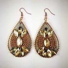 Náušnice Earrings Handmade, Jewelry Art, Drop Earrings, Crystals, Drop Earring, Crystal, Crystals Minerals