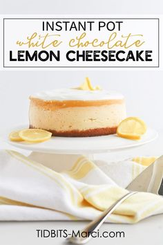 Sweet White Chocolate Cheesecake with tart Lemon layer and a magical Switcheroo trick that will surprise and delight you. How To Make Cheesecake, Lemon Cheesecake, Cheesecake Bars, Instapot Cheesecake, Chocolate Yogurt, White Chocolate Cheesecake, Instant Pot Pressure Cooker, Pressure Cooker Recipes, Pressure Cooker Cheesecake