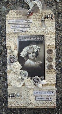min lille scrappe-verden: Vintage Tag