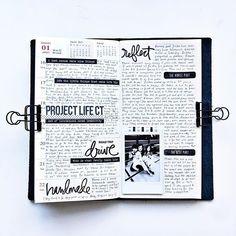 Week 12 in my Midori traveler's notebook.  Nothing but black ink this week.