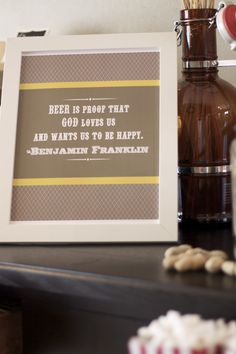 funny quote for beer party - thanks @Amber Lyden for the design
