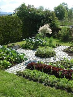 Kitchen vegetable garden | jardin potager | bauern… Ornamental potager.
