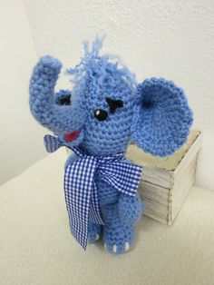 Alan Crocheted with a lot of love Alan is ideal also for small children. Alan is made of acrylic yarn. He is 20 cm tall Alan is filled with Dinosaur Stuffed Animal, Elephant, Teddy Bear, Toys, Crochet, Animals, Amigurumi, Activity Toys, Animales