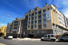Fachada de la nueva promoción de #viviendas en venta en #PlayaLérez, Pontevedra. Si clicas sobre la imagen podrás leer todos los detalles sobre la oferta.