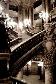 Pinner said this was the Victorian Gothic Castle. Location: U.K. but *I* and pretty sure this is the Paris Opera, grand staircase from the bottom left. Guess I could be wrong but I'm 99.9% sure this is the Opera Garniere. --cj