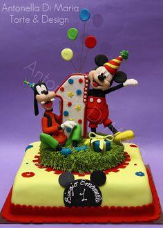 Mickey Mouse  & Goofy Cake