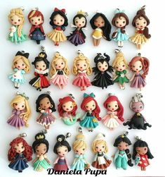 """New Cost-Free Polymer Clay Crafts disney Strategies """"So Little, So Cute"""" Dolls Collection Daniela Pupa Kawaii Jewels Fimo Disney, Polymer Clay Disney, Polymer Clay Figures, Cute Polymer Clay, Cute Clay, Polymer Clay Dolls, Polymer Clay Miniatures, Polymer Clay Projects, Polymer Clay Creations"""