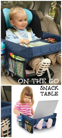 On the Go Snack Table - I need this for my future kids lol Baby Hut, My Baby Girl, Our Baby, Baby Boys, Materiel Camping, Baby Must Haves, Everything Baby, Baby Time, Baby Hacks