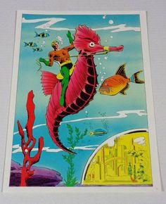 Rare vintage original 1970's DC Comics Aquaman poster pin-up 1: 1978 Classic DC Universe Aqua Man Atlantis comic book superhero pinup poster: