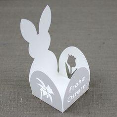 Last-Minute Schoko-Verpackung für Ostern - passend für einen Schokoladenhasen oder eine Rocher-Kugel...