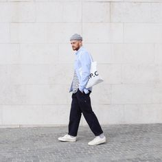 Menswear ootd, apc, tote, converse 70s street style   info@oliverhooson.com Oliver Hooson Olvh