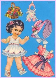 Ingrid Molzen. PDsamler. Online Interest Group on paper dolls. From Spain Series of 8 different countries