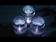 DIY glitter glow Mason jar lights   Easy craft ideas