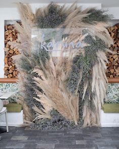 Boho Beach Wedding, Bohemian Wedding Decorations, Floral Wedding, Wedding Flowers, Dream Wedding, Photowall Ideas, Photo Booth Backdrop, Pampas Grass, Event Styling