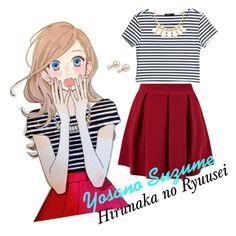 Hirunaka no Ryuusei - Yosano Suzume by jijicat on Polyvore featuring MANGO, Cameo Rose, Charlotte Russe, manga and hirunakanoryuusei