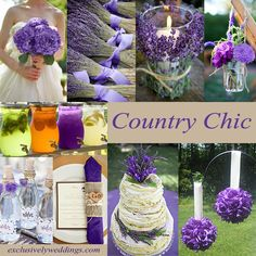 Country Chic - Rustic Wedding | I like this a lot! I want a country themed wedding!