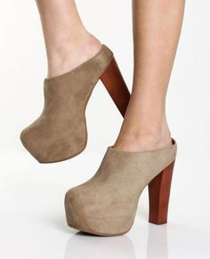 Jeffrey Campbell Gypsy Taupe Suede Slide