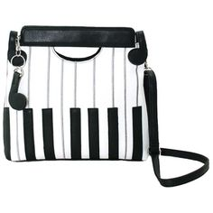 Black and White Piano Keys Music Festival Crossbody Handbag Purse ($32) ❤ liked on Polyvore featuring bags, handbags, shoulder bags, cross body, crossbody shoulder bag, shoulder handbags, hand bags and crossbody hand bags