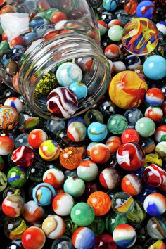 Glass jar and marbles Fine Art Print - Garry Gay Marbles Images, Marble Games, Marble Art, Murano, Glass Marbles, Glass Ball, Lost & Found, Paper Weights, Kitsch