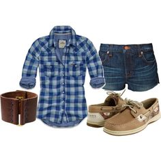 almost like an everyday outfit for me, except for sperry's only in winter, shorts only in summer, and plaid shirt anyday of the year.