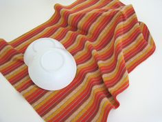 striped cotton kitchen towel, cotton tea towel, handwoven towel, bread cloth, dish towel, brown towel, orange towel, woven towel, farmhouse by ThreadandWoodCrafts on Etsy
