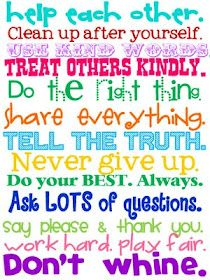 Cute poster for classroom-  School Printables...these may be meant for elementary school kids, but my high schoolers could use a reminder