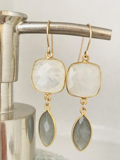 Excited to share the latest addition to my #etsy shop: Moonstone Earrings Labradorite Earrings Gemstone Earrings Boho Earrings June Birthstone Summer Earrings June Birthday June Gift http://etsy.me/2ATef12 #jewelry #earrings #birthday #christmas #moonstone #women #earw