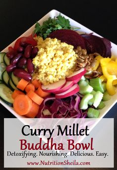 Ultimate Detox & Healing Buddha Bowl. So simple & amazing! NutritionSheila.com