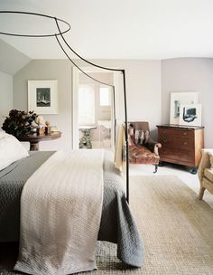 Anthropologie Italian Campaign Canopy Bed