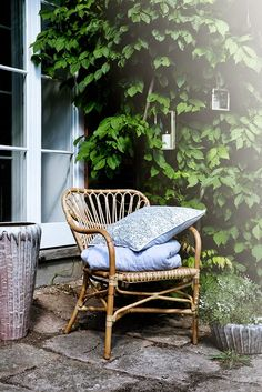 design by broste copenhagen www. Outdoor Spaces, Outdoor Chairs, Outdoor Living, Outdoor Decor, Rattan Chairs, Garden Furniture, Home Furniture, Outdoor Furniture, Garden Chairs