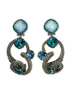 Tentacle aquamarine earrings by Sorrelli. My favorite. I'll take sorrelli over diamonds any day.